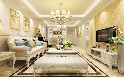 120平米欧式三居室装修案例
