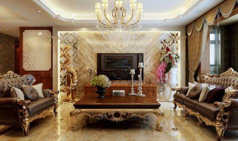 阳光揽胜150平米欧式风格三居室设计