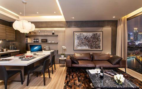 紫廷名苑现代风格三居室装修效果图