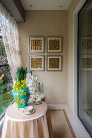 阳台窗帘法式风格装潢图片