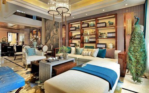 客厅博古架中式风格装修图片