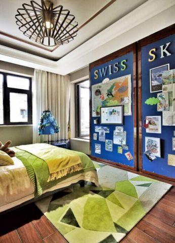 儿童房窗帘中式风格装修设计图片