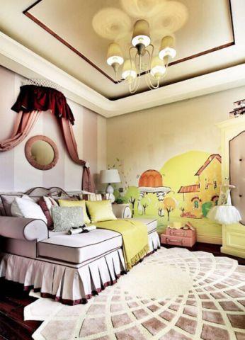 儿童房吊顶中式风格装饰设计图片