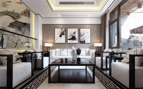 新中式风格274平米别墅室内装修效果图
