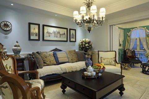 美式风格300平米别墅室内装修效果图