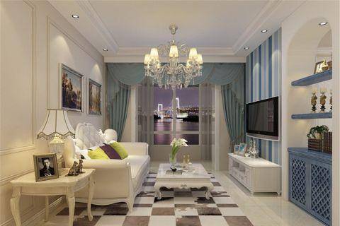 欧式风格110平米三房两厅新房装修效果图