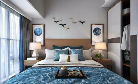 卧室背景墙新中式风格装饰效果图