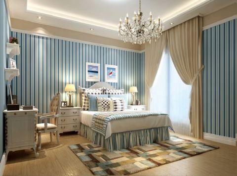 卧室背景墙地中海风格装修设计图片