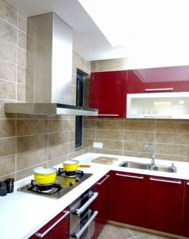 厨房背景墙现代简约风格装饰图片