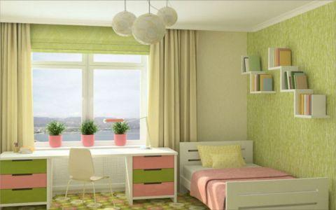 儿童房背景墙简约风格装饰效果图