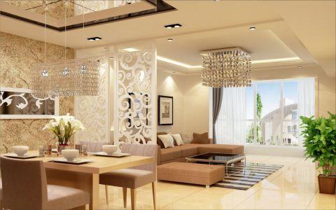 新中式风格160平米套房装修效果图