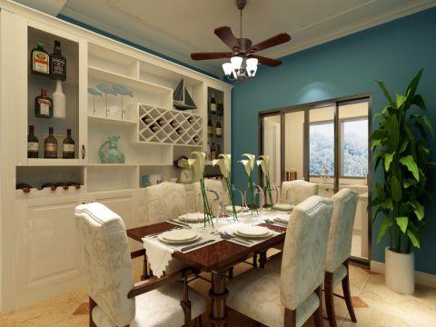 餐厅博古架美式风格装修设计图片