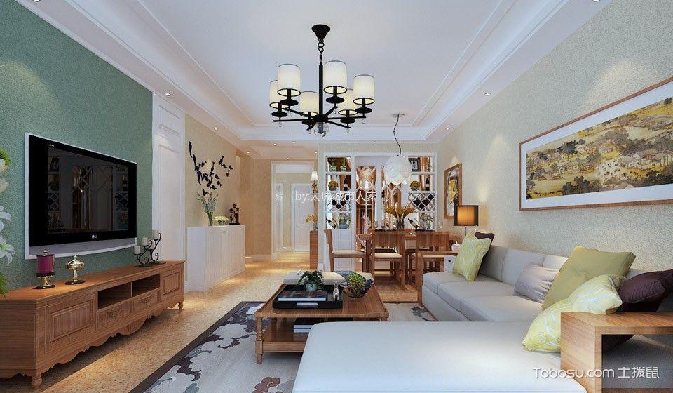 美式风格134平米两房两厅新房装修效果图