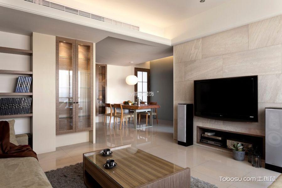 现代简约风格98平米3房2厅房子装饰效果图