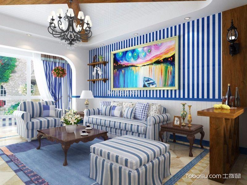 120平米地中海风格装修设计