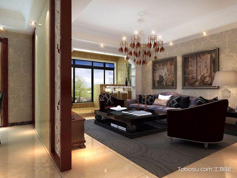 简欧风格110平米小户型新房装修效果图