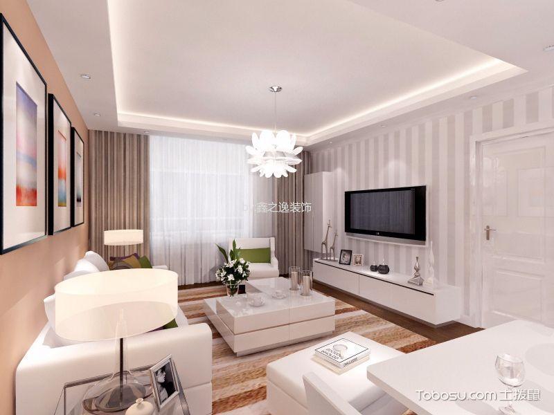 90平米现代简约二居室装修案例