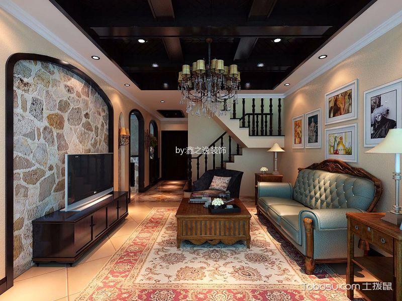 美式风格300平米复式新房装修效果图