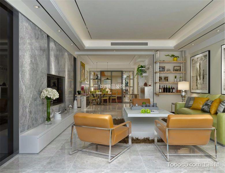现代风格120平米三室两厅新房装修效果图图片