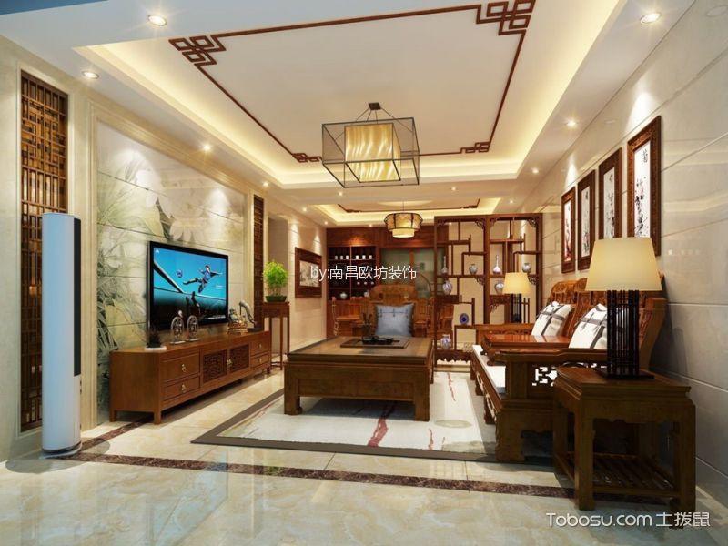 南天阳光中式风格四居室装修效果图