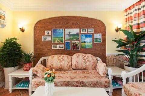 客厅照片墙欧式田园风格效果图