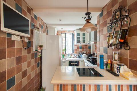 厨房背景墙欧式田园风格装潢效果图