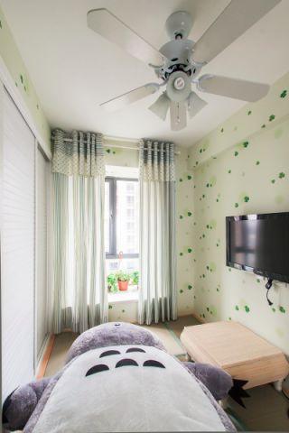 卧室窗帘欧式田园风格装修设计图片