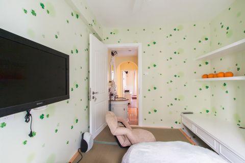 卧室背景墙欧式田园风格装饰设计图片