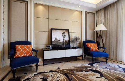 客厅电视柜新古典风格装修效果图
