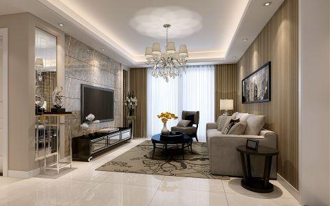 现代简约风格100平米3房2厅房子装饰效果图