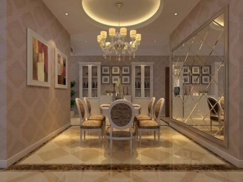 餐厅吊顶欧式风格装饰设计图片