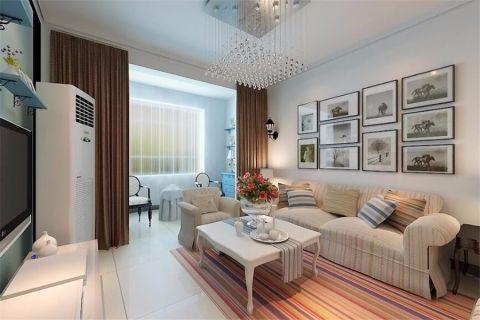 现代简约风格90平米楼房房子装饰效果图