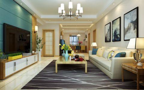 现代简约风格160平米大户型房子装修效果图