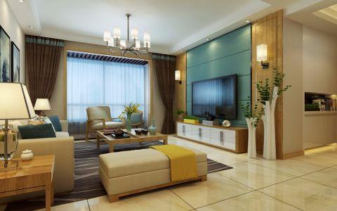 客厅窗台现代简约风格装潢效果图