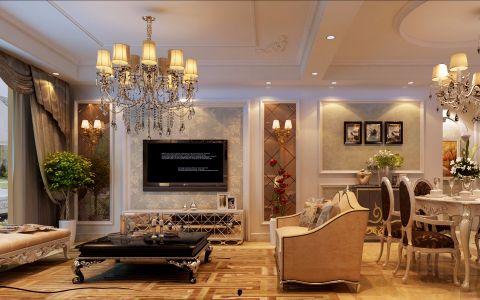 简欧风格126平米3房2厅房子装饰效果图