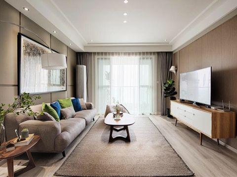 北欧风格107平米3房2厅房子装饰效果图