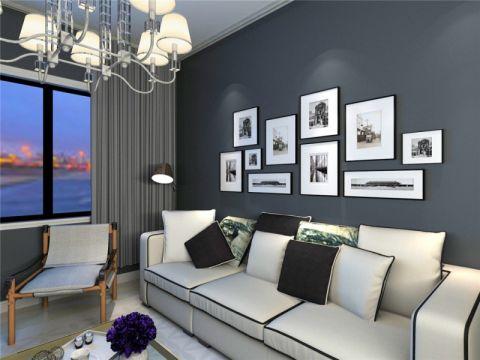现代简约风格110平米套房装修效果图