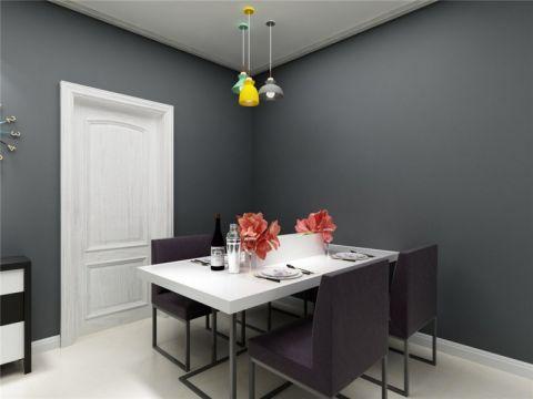 餐厅吊顶现代简约风格效果图