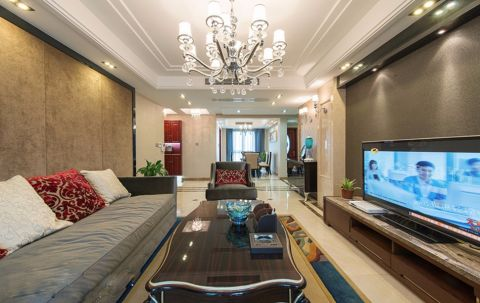 新古典风格160平米四居室房子装修效果图