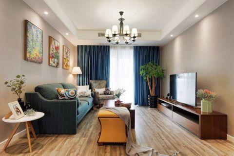 混搭风格160平米三居室房子装修效果图