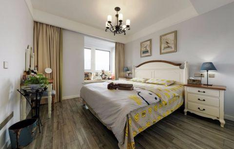 卧室背景墙混搭风格装饰图片