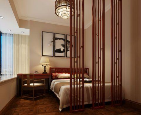 卧室隔断中式风格装修图片