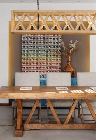 餐厅吊顶混搭风格装修图片