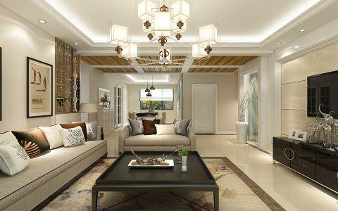 现代风格110平米大户型房子装修效果图