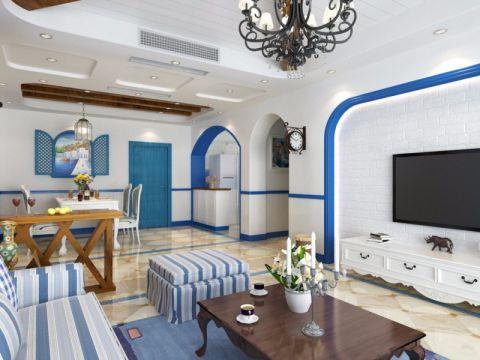 客厅地中海风格装潢效果图