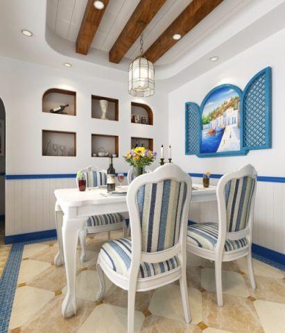 餐厅背景墙地中海风格装饰图片