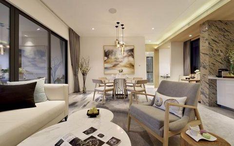 现代风格300平米楼房装修效果图