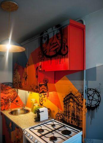 厨房背景墙后现代风格装饰效果图