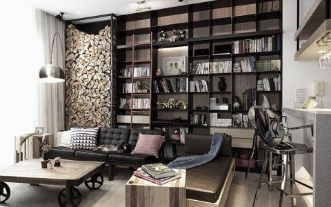 现代风格220平米三居室房子装修效果图