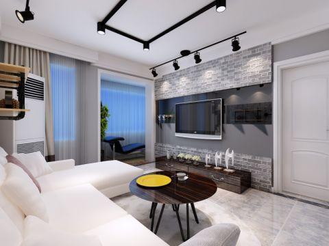 客厅窗台现代简约风格装饰效果图